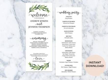 New Wedding Ceremony Programs Template Favors 21 Ideas regarding Wedding Reception Agenda Template