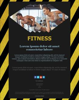 Newsletter Templates For Gyms And Fitness Centers   Mailpro within Business Plan Template For Gym