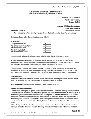 Non Profit Board Meeting Minutes Template - Fill Out for Template For Meeting Agenda And Minutes