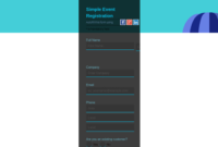 Non Profit Templates | Event Registration Form | Simple intended for Quality Non Medical Home Care Business Plan Template