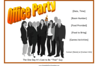 Office Party Flyer regarding Free Business Flyer Templates For Microsoft Word