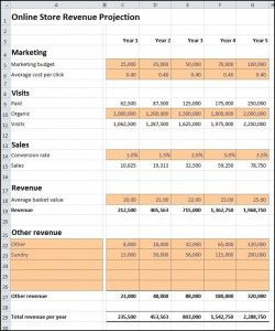 Online Store Revenue Projection | Plan Projections with regard to Unique Business Plan For A Startup Business Template