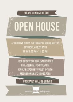 Open House Invitation - Google Search (With Images) | Open intended for Business Launch Invitation Templates Free