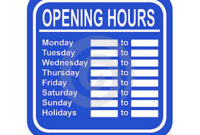 Opening Hours Clipart 20 Free Cliparts | Download Images With Regard To New Printable Business Hours Sign Template