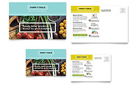 Organic Food Flyer Template - Word & Publisher with Food Business Cards Templates Free