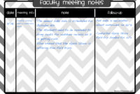 Organize Your Meeting Notes {Teacher Tip #12} | Clutter for Grade Level Meeting Agenda Template