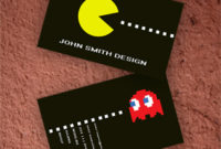 Pacman Business Card regarding Unique Unique Business Card Templates Free