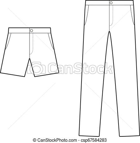 Pants Fashion Flat Technical Drawing Template. Fashion In Fresh Business Plan Template For Clothing Line