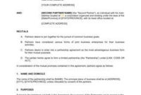 Partnership Agreement – Template & Sample Form | Biztree with regard to Partner Business Plan Template