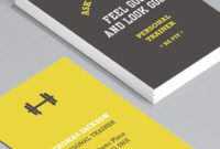 Personal Trainer & Fitness Business Card | Mkt Fitness In Fresh Free Personal Business Card Templates