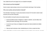Policies And Procedures Template   Template Business inside Fresh Policies And Procedures Template For Small Business