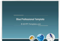 Powerpoint Blue Professional Intro Template intended for Fresh Professional Website Templates For Business