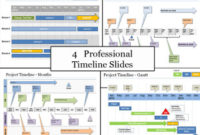 Powerpoint Workstream Timeline Template – Download Now intended for One Year Business Plan Template
