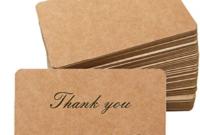 Primbeeks 300Pcs Premium Blank Kraft Paper Cards, Double Regarding Unique 2 Sided Business Card Template Word