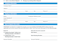 Printable Capital One Change Business Info Form – Edit intended for Business One Sheet Template