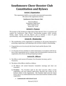 Printable Class Meeting Agenda 07262016 Booster Club In Advisory Board Meeting Agenda Template