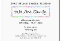 Printable Example Of Family Reunion Program | Grand Rapids throughout Family Reunion Agenda Template