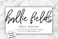Printable Hair Salon Business Card / Hair Stylist Business for Hairdresser Business Card Templates Free