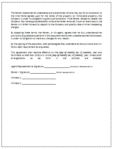Printable Sample Rental Agreement Template   Office intended for Business Lease Proposal Template