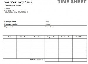 Printable Weekly Time Sheet   Timesheet Print in New Business Hours Template Word