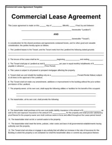 Private Rental Agreement Template in New Business Lease Agreement Template Free