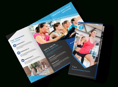 Professional Fitness Tri-Fold Brochure Template within Free Tri Fold Business Brochure Templates