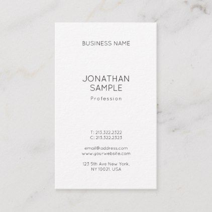 Professional Simple Design Chic Vertical Template Business pertaining to Free Business Card Templates For Photographers