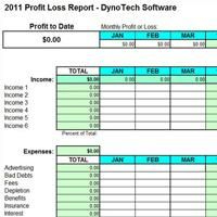 Profit & Loss Report Screen Shot (With Images) | Small within Excel Template For Small Business Bookkeeping