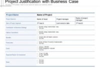 Project Justification With Business Case | Presentation regarding Fresh Business Case Presentation Template Ppt