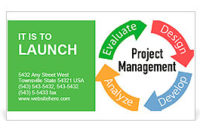 Project Management Business Product Development Arrows throughout Business Card Template Word 2010