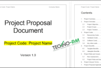 Project Proposal Template Word Template – Project within One Page Business Plan Template Word