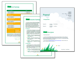 Proposal Pack Lawn #1 - Software, Templates, Samples intended for Lawn Care Business Plan Template Free
