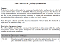 Quality System Plan Template – Medical Device Academy throughout Business Continuity Plan Template Canada