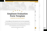 Quarterly Employee Evaluation Template Free – Avitus Group in Quarterly Business Plan Template