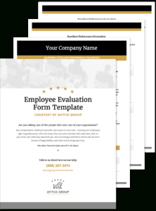 Quarterly Employee Evaluation Template Free - Avitus Group in Quarterly Business Plan Template