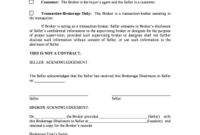 Real Estate Seller Broker Agreement To Download In Word within Supervisor Meeting Agenda Template