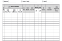 Record Of Working Hours For Part-Time Work On Hourly Basis in Business Hours Template Word