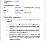 Recruitment Agreements For An Employment Agency inside Staffing Agency Business Plan Template