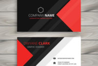 Red Black Corporate Business Card Template Vector Design with regard to Professional Business Card Templates Free Download