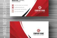 Red Shape Visit Card Free Vector – Download Free Vectors in Email Business Card Templates