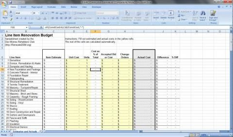Renovation Budget Spreadsheet | Renovateqc | Renovation Pertaining To Business Plan Template Free Download Excel