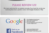 Request Online Reviews With Cards, Signs And Bags with regard to Customer Business Review Template