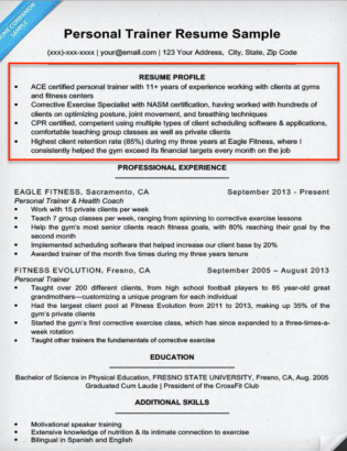 Resume Profile Examples & Writing Guide | Resume Companion pertaining to Unique Personal Business Profile Template