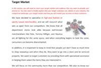 Retail Fashion Store Business Plan Template (Physical within Retail Business Proposal Template