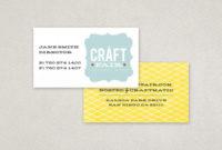 Retro Craft Fair Business Card Template | Inkd In New Front And Back Business Card Template Word