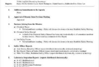 Safety Meeting Minutes Template Word - Lomer pertaining to Agenda Template Without Times