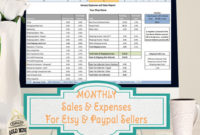 Sales And Expenses Excel Template – Importer For Etsy And pertaining to New Etsy Business Plan Template