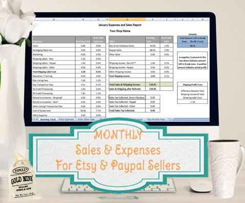 Sales And Expenses Excel Template - Importer For Etsy And pertaining to New Etsy Business Plan Template