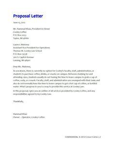 Sales Proposal Letter - Sales Proposal Letter Is Written for Unique Sales Business Proposal Template