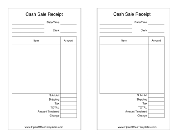 Sales Receipt - Openoffice Template throughout Quality Openoffice Business Card Template